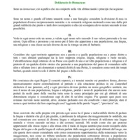 Dichiarazione sull'Homaranismo