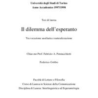 Il dilemma dell'esperanto, tra vocazione ausiliaria e naturalizzazione