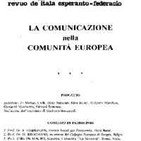 La comunicazione nella Comunità europea